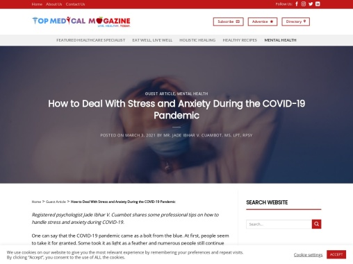 How to Deal With Stress and Anxiety During the COVID-19 Pandemic