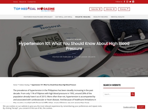 Hypertension 101: What You Should Know About High Blood Pressure