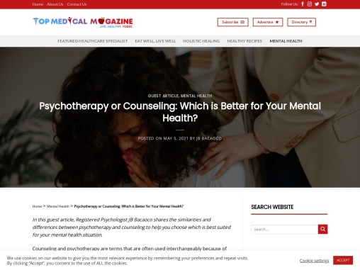 Psychotherapy or Counseling: Which is Better for Your Mental Health?