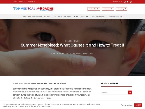Summer Nosebleed: What Causes It and How to Treat It