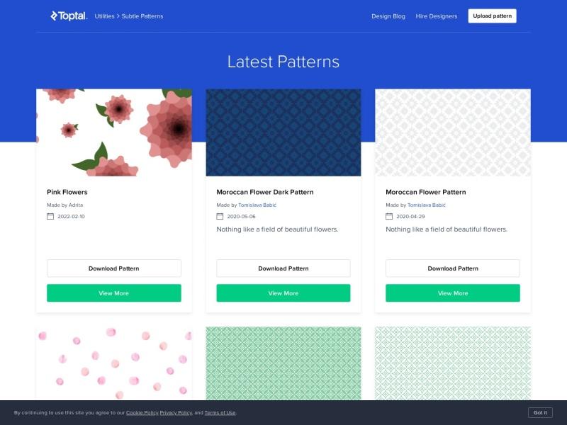 Subtle Patterns | 無料のテクスチャパターン(繰り返し素材)を提供しているサイト