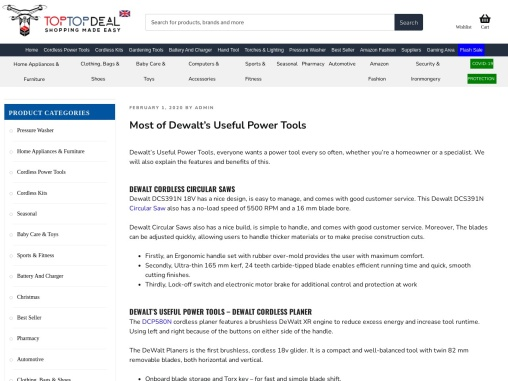 Most of Dewalt 's Useful Power Tools – Toptopdeal.co.uk
