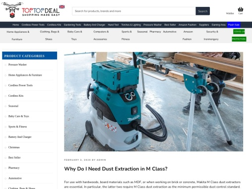 Why Do I Need M Class Dust Extraction – Toptopdeal.co.uk