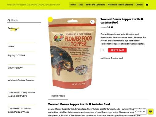 Buy Zoomed flower topper turtle & tortoise food Online