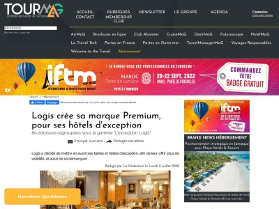 https://www.tourmag.com/Logis-cree-sa-marque-Premium-pour-ses-hotels-d-exception_a94196.html