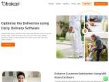 Milk delivery software – Trakop