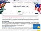 Memorial Day Flights   Cheap flights Deals   Discount Airline Tickets