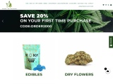 Cannabis-chocolate-bar-edibles-kush-kitchen and dry flowers