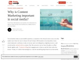 Why is content marketing important in social media?