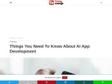 All you need to know about AI app development