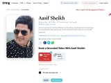 Send Your Love To Your Loved One Through Aasif Sheikh | Tring