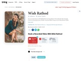 Get Personalised Messages And Recorded Video from Wish Rathod   Tring