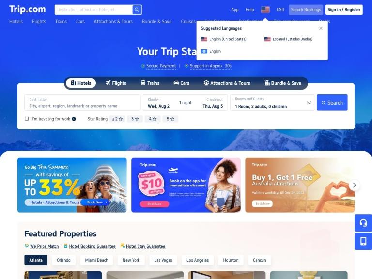 Trip.com Promo Code screenshot