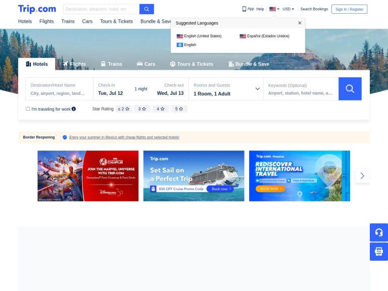 Trip.com (global) screenshot