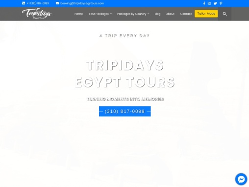 """Tripidays Egypt Tours """"2021 Packages"""" Best Luxury Guided Travel Vacations"""