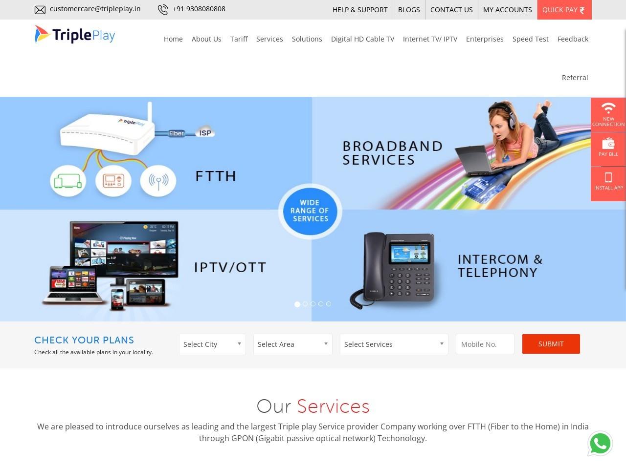 Broadband Internet Plans in Prateek Wisteria G8 Noida
