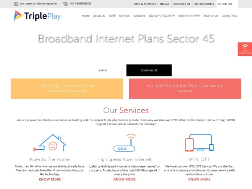 High Speed Internet Provider in Sector 45