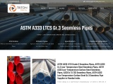 ASTM A333 Gr.3 LTCS Seamless Pipes Supplier