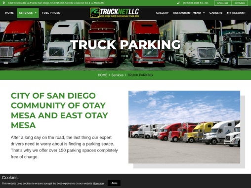 Truck Net provides best truck stop services in San Diego, California