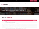 Btech CSE Major Machine Learning Live Projects for Final Year Students
