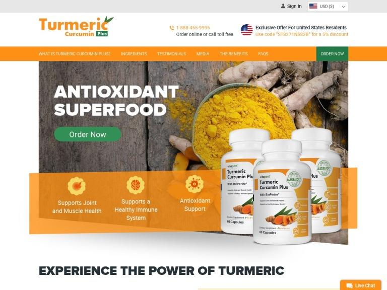 Turmeric Curcumin screenshot