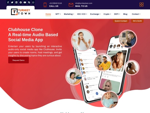 Clubhouse Clone App | Clubhouse Clone Script | Audio-based social media app