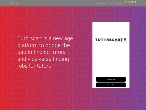 Tutorscart- Tutor a click away