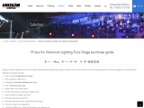 10 tips for Aluminum Lighting Truss Stage purchase guide