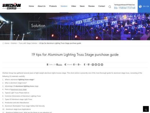 19 tips for Aluminum Lighting Truss Stage purchase guide