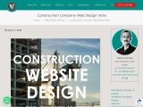 Construction Company Web Design India, Construction Website Design Company