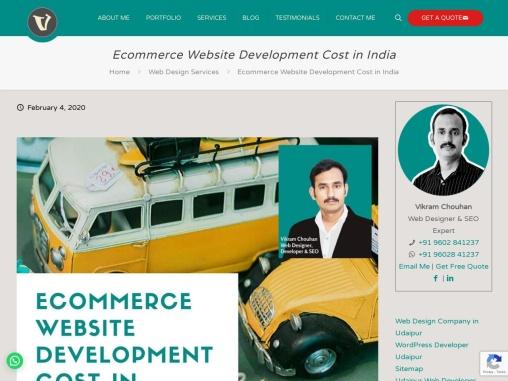 Ecommerce Website Development Cost in India, E-commerce Website Developer India