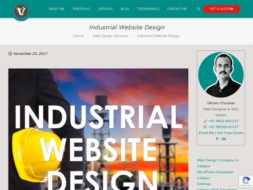 Industrial Website Design, Manufacturing Company Website Development