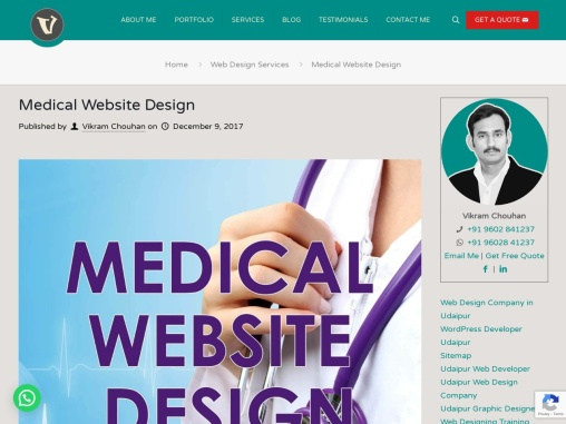 Medical Website Design, Healthcare Web Design, Hospital Web Design