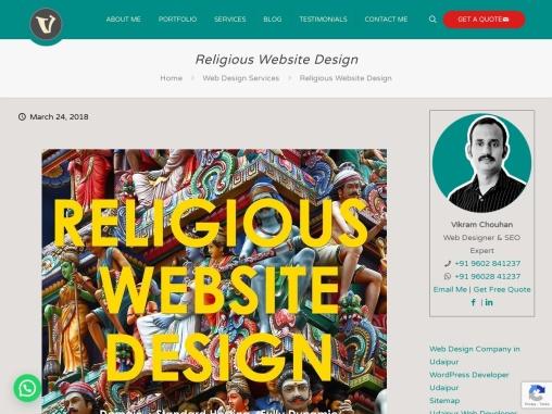 Religious Website Design, Custom Spiritual and Religious Website Design Company