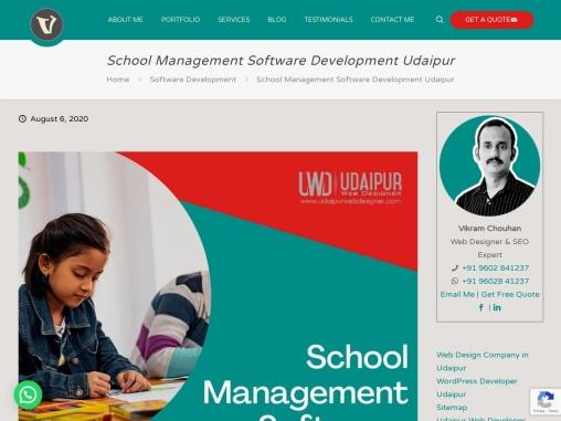 School Management Software in Udaipur, School Management Software Development Udaipur
