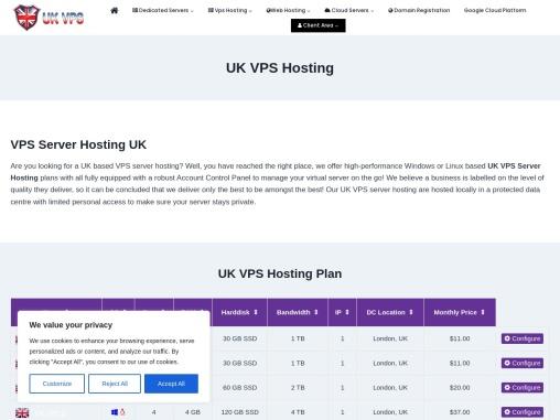 UK VPS Hosting with Amazing Benefits