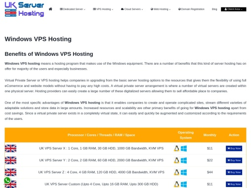 Buy Windows VPS Server with amazing Services