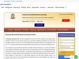 Osmania University Distance Education MBA Admissions 2021