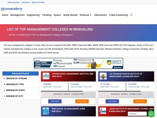 Top Management Colleges In Bengaluru | Cutoff