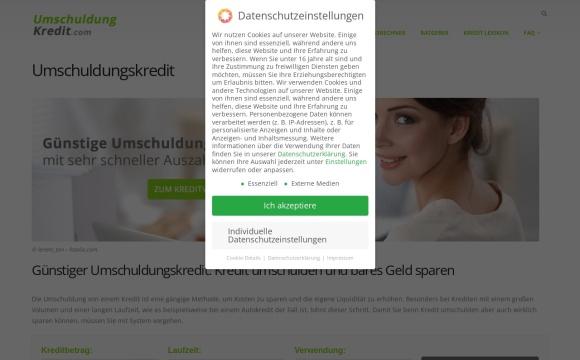 umschuldungskredite.info: Kredit umschulden und bares Geld sparen