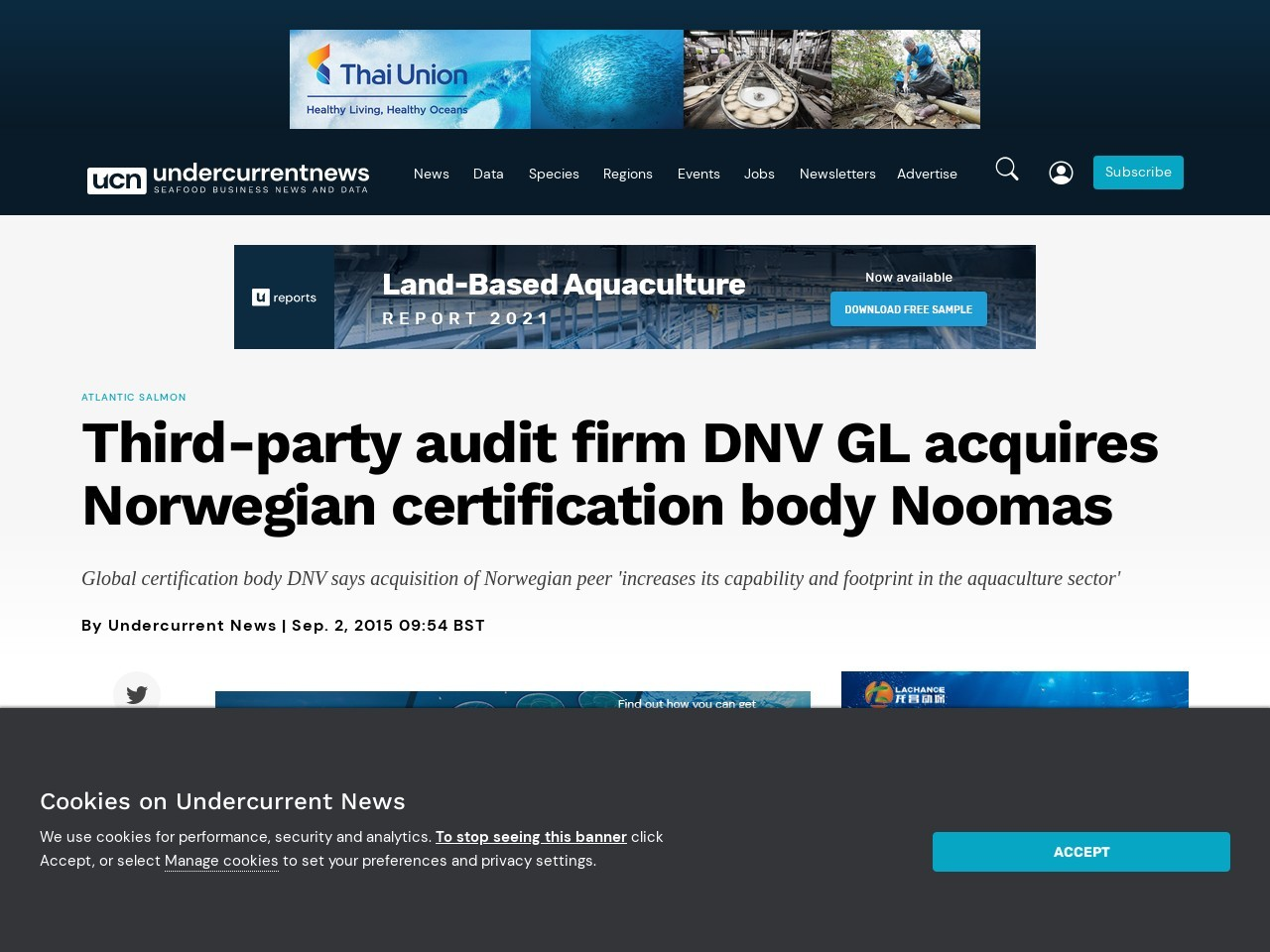 Third-party audit firm DNV GL acquires Norwegian …