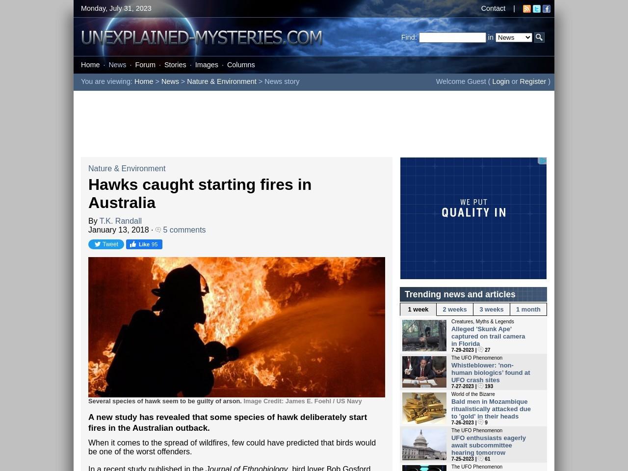 Hawks caught starting fires in Australia
