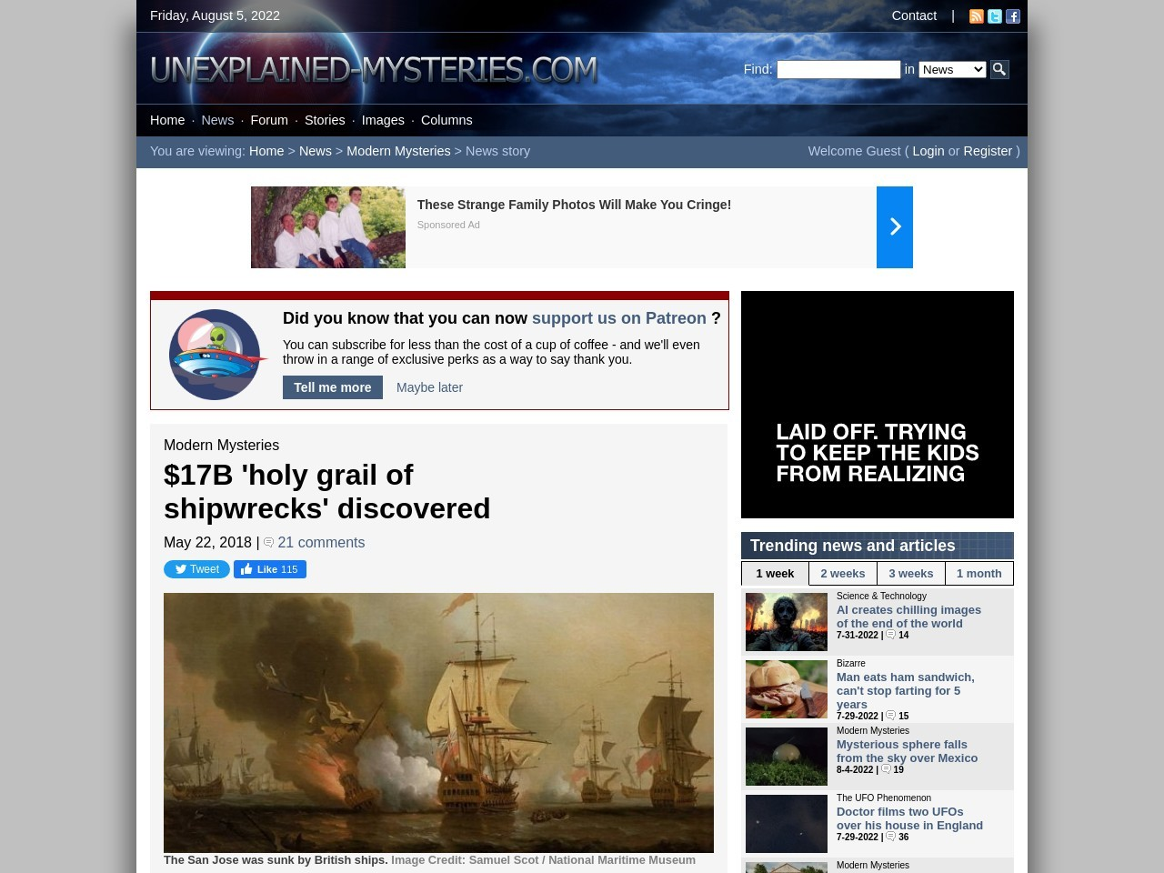 $17B 'holy grail of shipwrecks' discovered