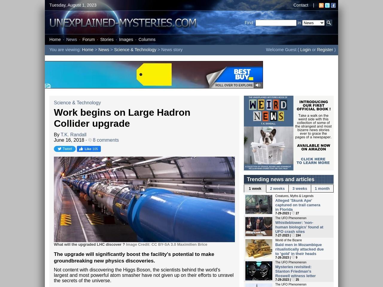 Work begins on Large Hadron Collider upgrade
