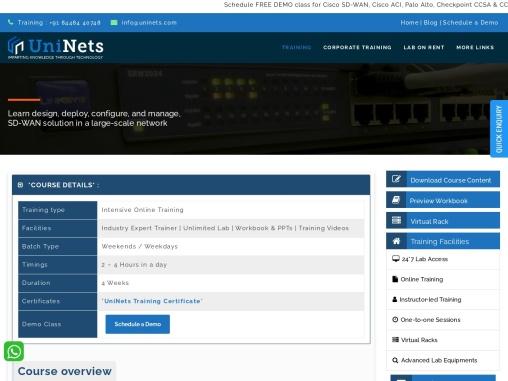 Cisco SD WAN Training in India