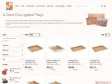 U-Pack Corrugated Trays at upack