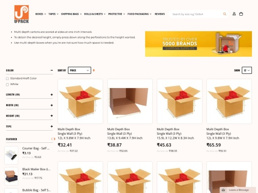 Buy Easy-Fold Boxes / Mailers Online