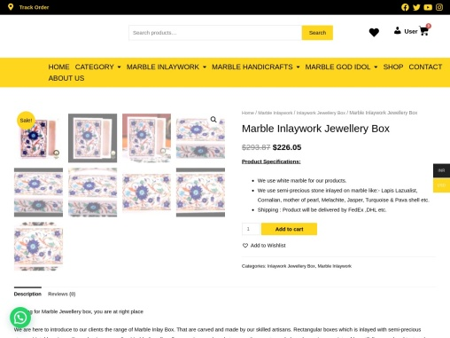 best Marble jewellery box in India