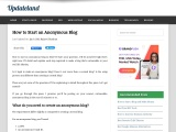 How to Start an Anonymous Blog in 2021