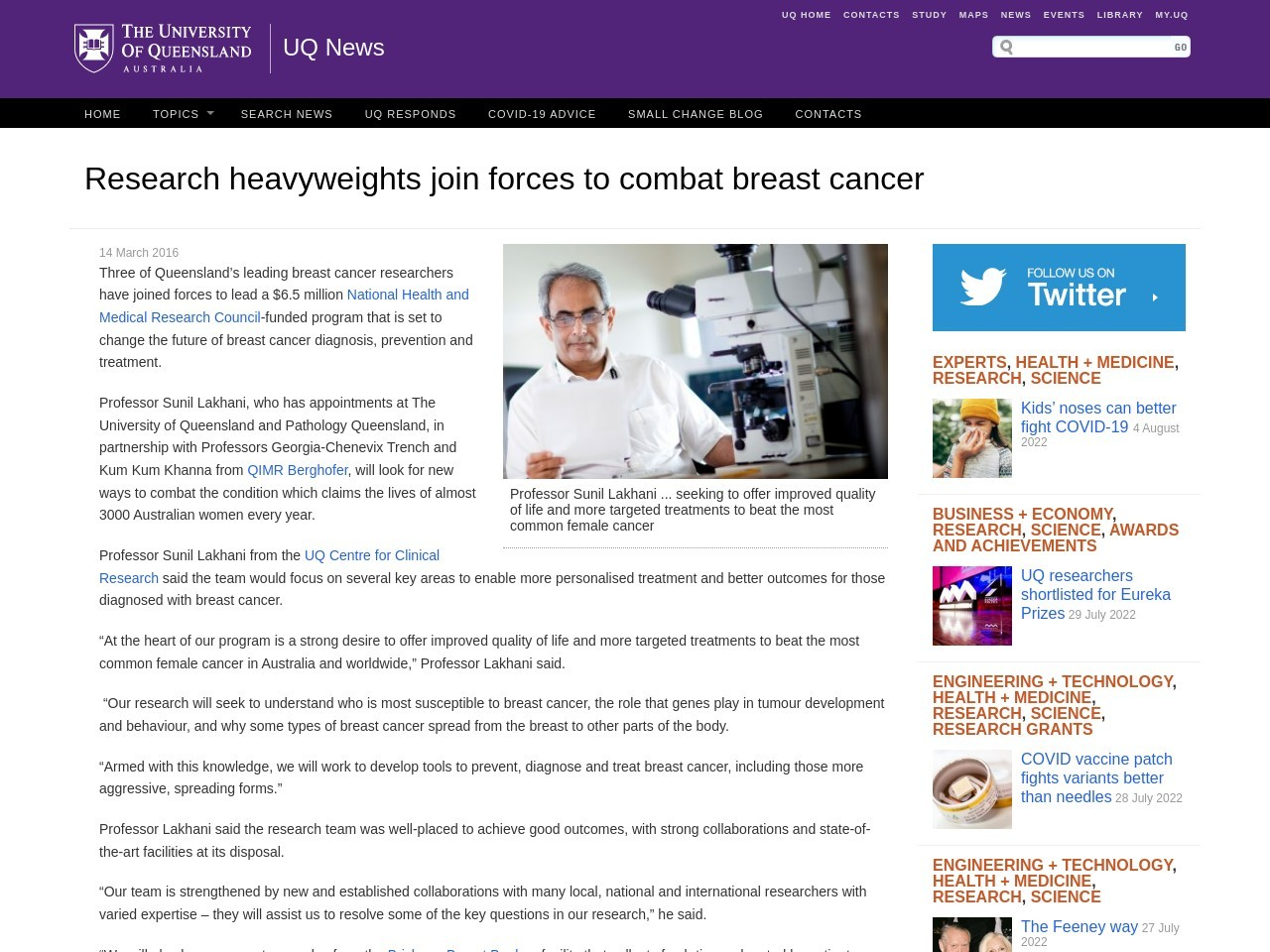 Research heavyweights join forces to combat breast cancer